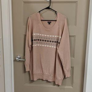 Torrid Heart Pink Sweater